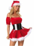 Sassy Off Shoulder Chrismas Dress