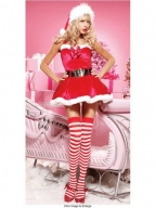 Red Fashion Christmas Costume