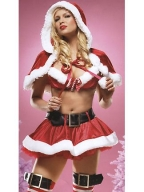 Irresistible 3PC  Christmas Costume With Shawl
