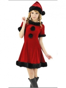 Adorable Black Hemline Christmas Costume