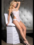 Pure White Trabeculate Teddy Lingerie