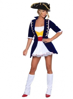 Enchanted Dark Blue Pirate Costume