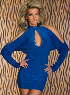 Cut-out Royalblue Shoulder Clubwear