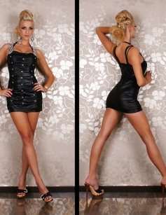 Hot Rhinestones Black Dress