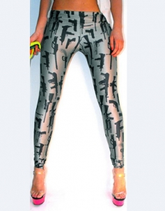 Vogue Gun Print Leggings