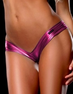 Glossy V Metallic Panty Purple