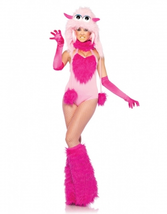 Pink Lady Moster Costume