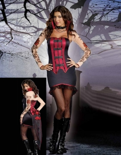Luxurious Gothic Vampire Costume