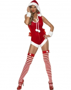 Enticing Sleeveless Christmas Romper Costume