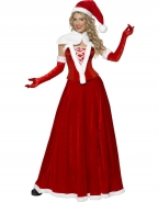 5PC Long Gown Christmas Costume