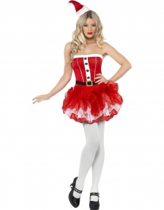 Cute Strapless Christmas Costume