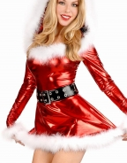 Glossy Mini Christmas Dress Costume
