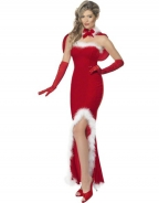 Red Mermaid Hemline Christmas Costume