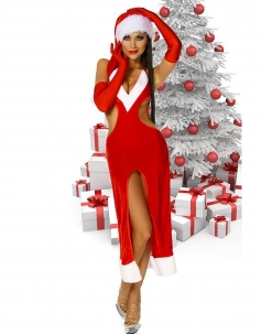 Sexy Backless Cut-out Christmas Costume