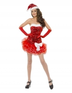 Strapless Shiny Star Christmas Costume