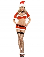 4PC Crop Top Christmas Costume