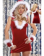 U-neck Mini Dress Christmas Cutie Costume