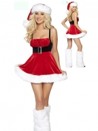 Deluxe Black Belt Santa Dress Costume