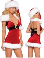 Low-cut Mini Dress Christmas Costumes