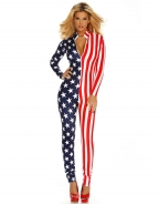 American Stars And Stripes Flag Catsuit