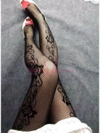 Rose Fishnet Pantyhose