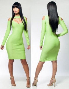 Light Green Bodycon Bandage Dress