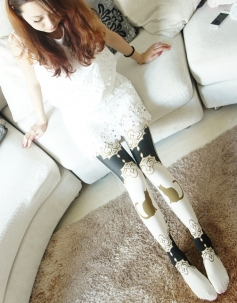 White Plutus Cat Stockings