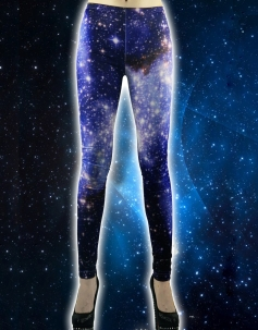 Blue Starry Night Leggings