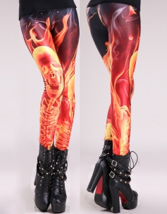 Flaming Bone Leggings
