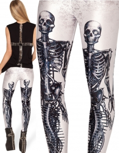 Terror Bone Leggings White