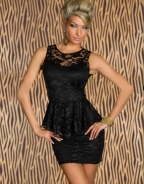 Black Lace Peplum Dress