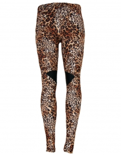 Leopard Splicing Leggings