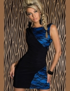 Plus Size Fair Lady Royalblue Lace Sleeveless Dress