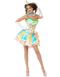 Multi Colors Candy Tutu Corset Dress With Button Carnival Costumes