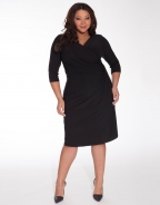 Tie Waist Black Sexy Plus Size Dress