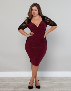 Plus Size Sexy Clubwear Dress red Lace Summer Party Mini Dress