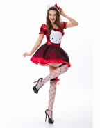 Free Shipping 2 Available Colors Fantasy Sexy Halloween Costumes Classical Hello Kitty Costume