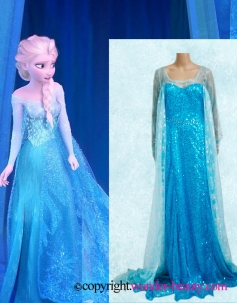 Elsa Dress Cosplay Costume in Frozen