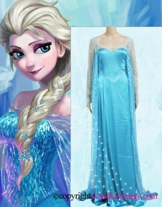 Frozen Princess Elsa Anna Cosplay Costume