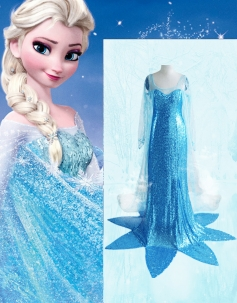 Lovely Queen Elsa From The Movie Frozen Costume
