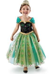 Children Anna Costume Sale By One Lot With Five Sizes