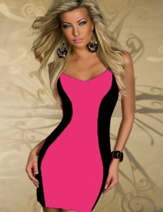 Rose Sleeveless Curvaceous Clubwear