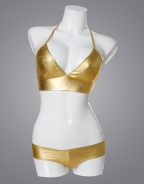 Gold Moderation Cover Leather Bikini