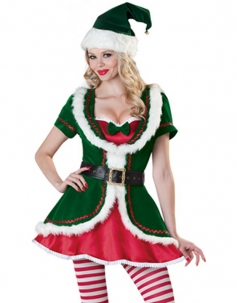 Green Adult Christmas Holiday Party Costume