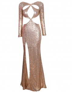 Luxury Sequined Cut-out Celebrity Dress