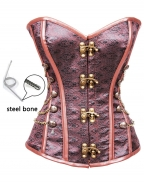 Brocade Steel Boned Steampunk Corset