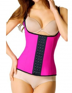 Steel Boned Latex Waist Trainer Vest
