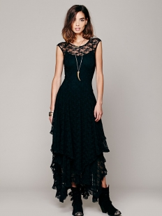 French Courtship Layered Maxi Dress