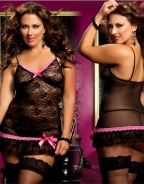 Plus Size Sexy Lace Babydoll