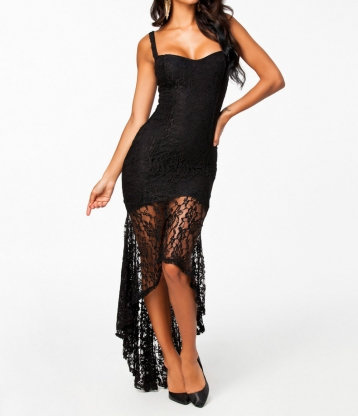 Black Elegent Sleeveless Evening Party Dress